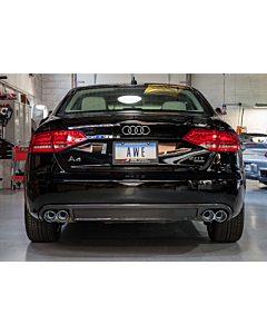 AWE Tuning B8 A4 Non S-Line Carbon Fiber Quad Tip Valance Conversion Kit (Heat shield and hardware included)