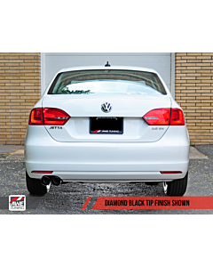 AWE Tuning Mk6 Jetta 2.5L Track Edition Exhaust - Diamond Black Tips