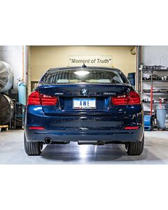 AWE Tuning BMW F30 320i Touring Edition Exhaust + Performance Mid Pipe, Single Side