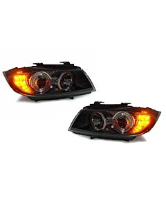 DEPO BMW E90 / E91 09-11 PROJECTOR HEADLIGHTS WITH V2 ANGEL EYES