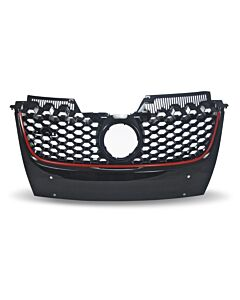 Grille Sport Design with Honeycomb Grille in Black with Red Border suitable for VW Golf Jetta GTI MK5
