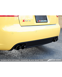 AWE Tuning RS4 Track Edition Exhaust - Diamond Black Tips