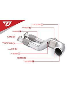 UNITRONIC DOWNPIPE W/ MIDPIPES FOR 2.5TFSI EVO